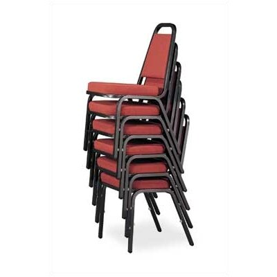 Virco Stacking Chair with Trapezoidal Back and French Seam