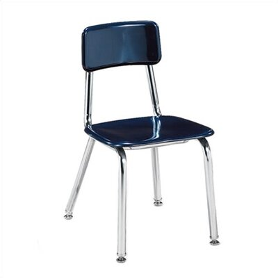 "Virco 3300 Series 12"" Chrome Classroom Glides Chair"
