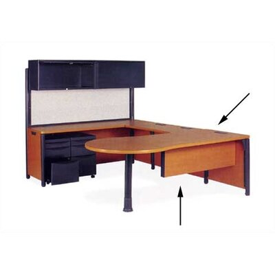 "Virco Plateau 29"" H x 76"" W Office Peninsula Desk"
