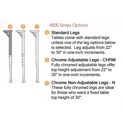 Virco 4000 Series Kidney Activity Table with Fully Chrome Short Legs