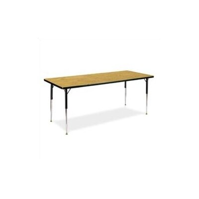 "Virco 4000 Series Activity Table with Non-Adjustable Chrome Legs (30"" x 72"")"