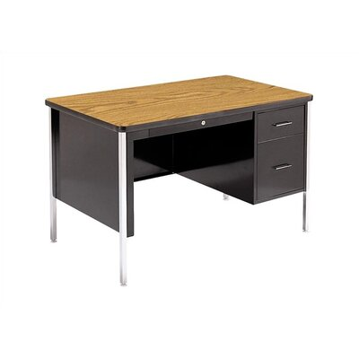 Virco 540 Series 30&quot; Laminate Particleboard Teacher's Computer Desk