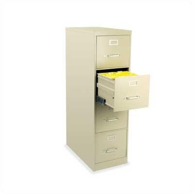Virco Four-Drawer Vertical Letter File