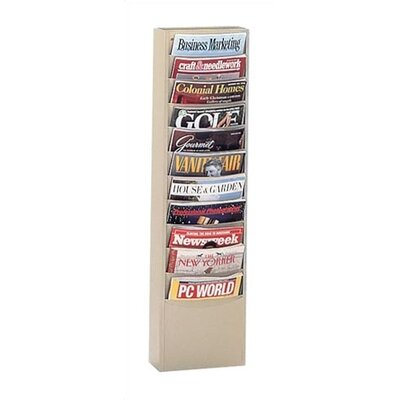 Virco Library Literature Rack, 11 pockets
