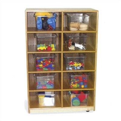 Virco Storage Unit with 10 Clear Trays