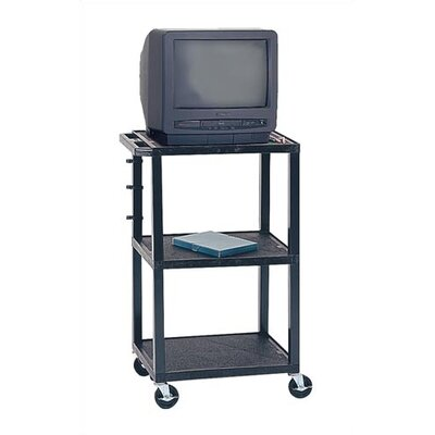 Virco Adjustable Height Audio Visual Cart - Plastic