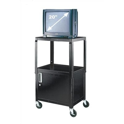Virco Adjustable Height Utility Cart w/ Locking Cabinet