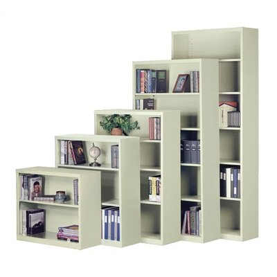 "Virco 84"" H Steel Six Shelf Bookcase"