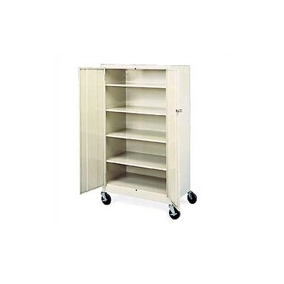 Virco Mobile Storage Cabinet with 4 Adjustable Shelves