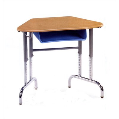 Virco 7900 Series Plastic Trapezoid Desk with Book Box