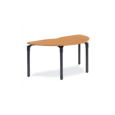 Virco Half-Round Plateau Table with Casters