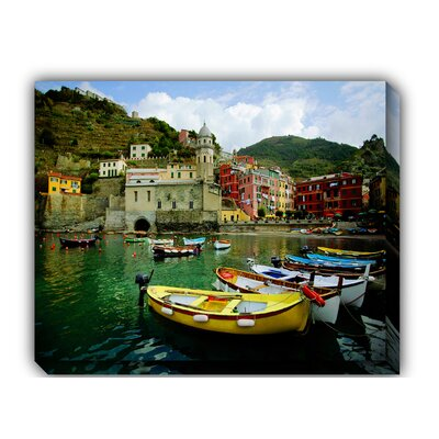 West of the Wind Outdoor Canvas Art Boat in Vernazza Outdoor Canvas Art