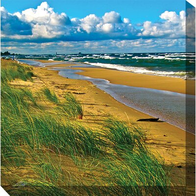 West of the Wind Outdoor Canvas Art Windy Beach Art Painting