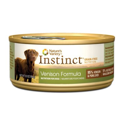 Nature's Variety Instinct Grain-Free Venison Canned Dog Food