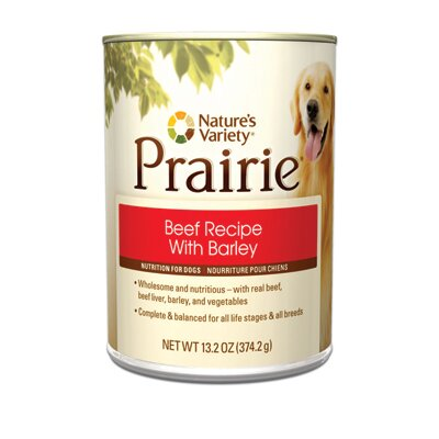 Prairie Beef Recipe with Barley Canned Dog Food (13.2-oz, case of 12)