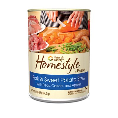 Nature's Variety Prairie Homestyle Pork and Sweet Potato Stew Canned Dog Food (13.2-oz, case of 12)