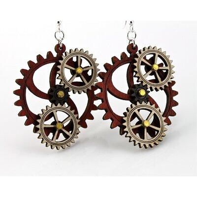 Green Tree Jewelry Kinetic Gear 5 Earrings