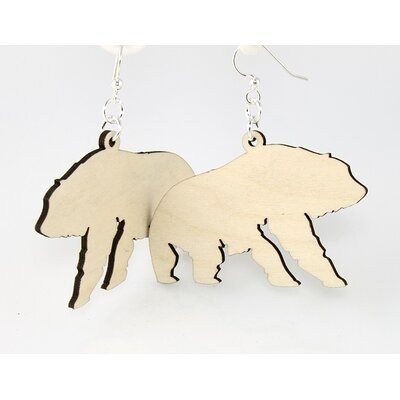Green Tree Jewelry Polar Bears Earrings