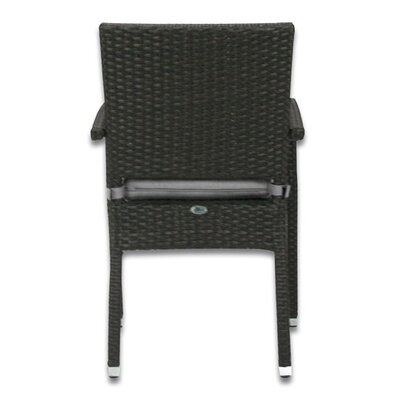 Patio Heaven Skye Stacking Dining Arm Chair