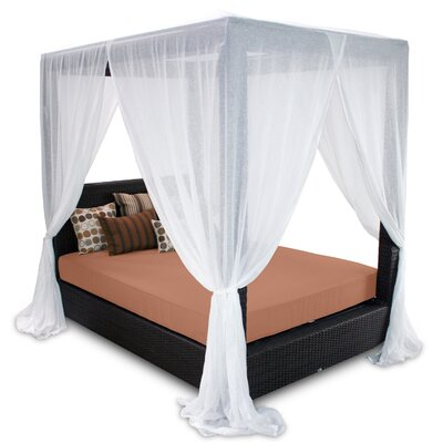 Patio Heaven Signature Queen Canopy Bed with Cushions