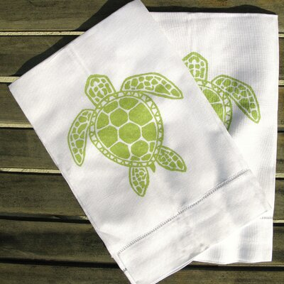 Lowcountry Linens Sea Turtle Guest Towel