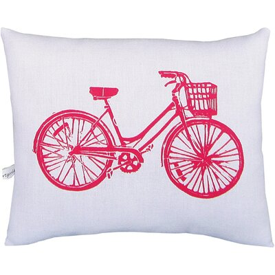 Bike Block Print Squillow Accent Pillow