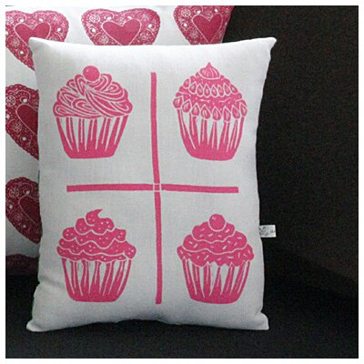 Artgoodies Cupcake Grid Block Print Squillow Accent Pillow