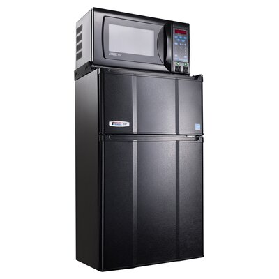 2.9 cu .ft Refrigerator/Freezer with .7 cu. Ft. Microwave