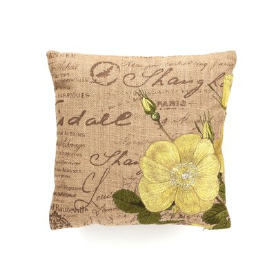 D.L. Rhein Tea Rose Down Filled Embroidered Pillow