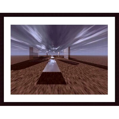Barewalls Space Henge Wood Framed Art Print
