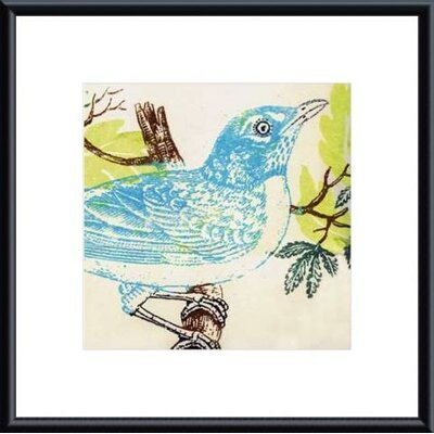 Barewalls Bluebird by Swan Papel Metal Framed Art Print
