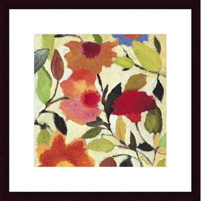 Barewalls Begonias by Kim Parker Wood Framed Art Print