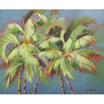Barewalls 5 Crazy Palms Gallery Wrapped Canvas Art