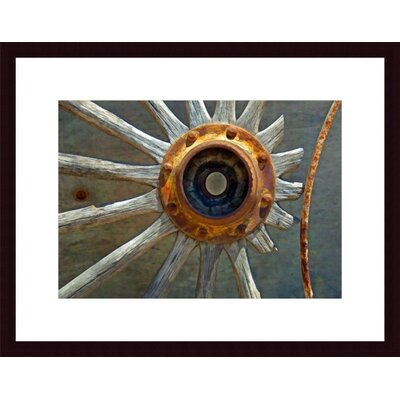 Barewalls Wagon Wheel Abstract Metal Framed Art Print