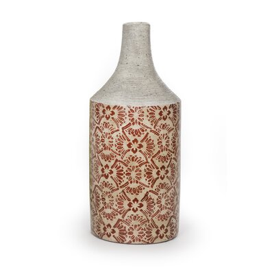 New Rustics Home Red Oriental Vase