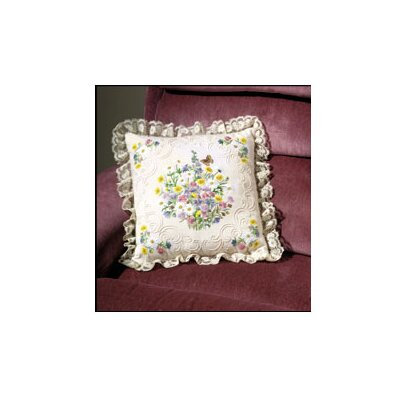 Janlynn Wildflowers & Butterfly Pillow