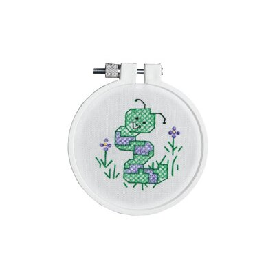 Janlynn Wiggly The Worm Stamped Cross Stitch