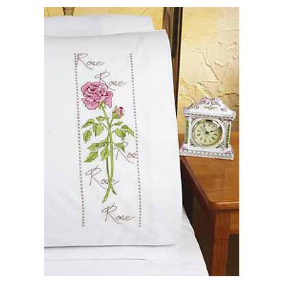 Janlynn Rose XS Pillowcase Stamped Cross Stitch Pair