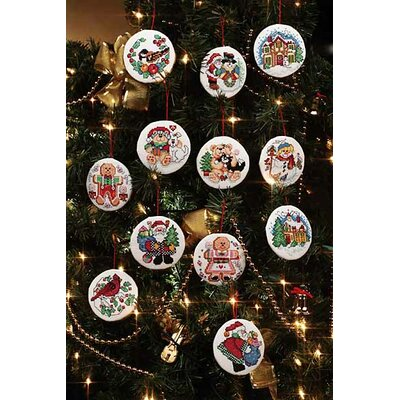 Janlynn Holiday Favorites Christmas Ornaments Cross Stitch (Set of 12)