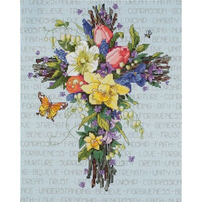 Janlynn Spring Floral Counted Cross Stitch