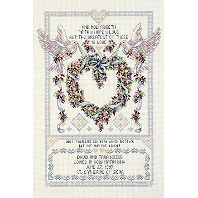 Janlynn Wedding Doves Counted Cross Stitch