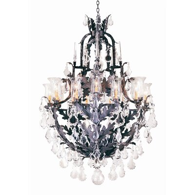 French Baroque 16 Light Chandelier