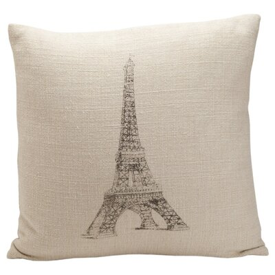 French Laundry Home Auron Eiffel Tower Print Pillow