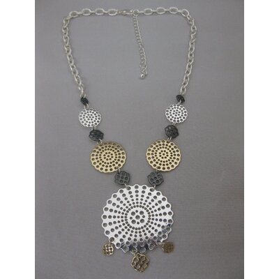 Tri-Tone Statement Necklace