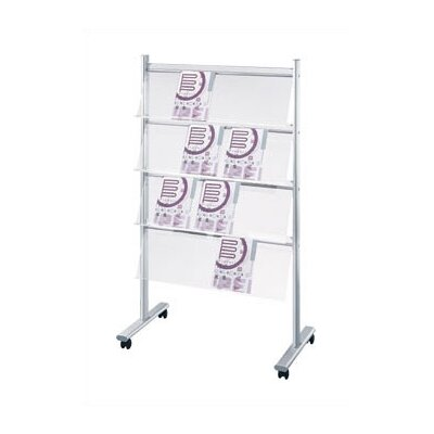 Peter Pepper Mobile Rack with 4 Display Shelves