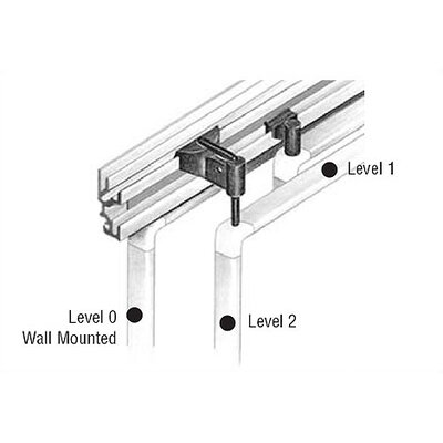 Peter Pepper Tactics Plus® Aluminum Wall Track with 2 Levels