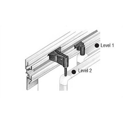 Peter Pepper Tactics Plus® Aluminum Wall Track with Display Rail