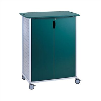 Peter Pepper Wheelies® Large AV/ Media Cart with Locking Doors and Two Adjustable Shelves