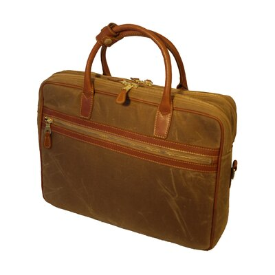 Mulholland Brothers Waxed Canvas Negotiator Briefcase