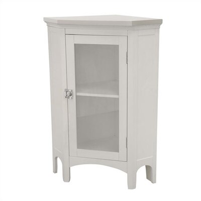 Elegant Home Fashions Madison Avenue White Corner Floor Cabinet